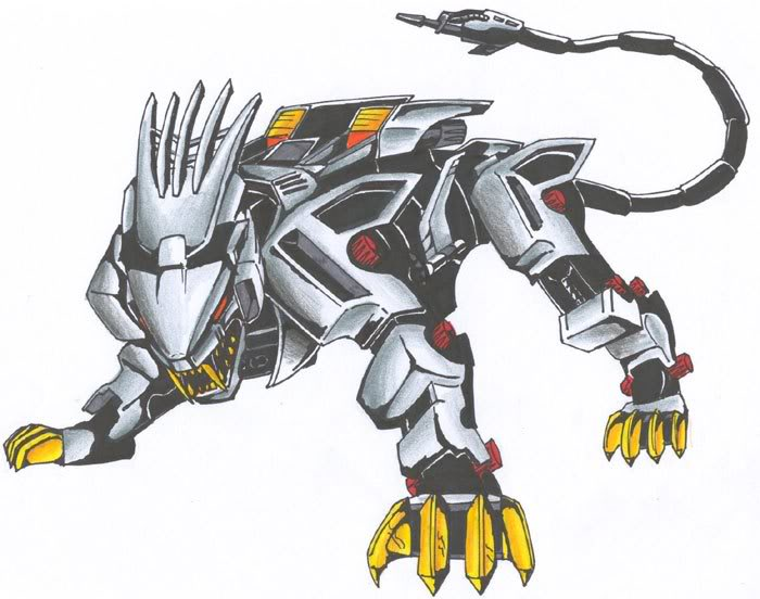 OLD A$$ Liger Zero pic I drew LONG time ago by Blaquetygriss