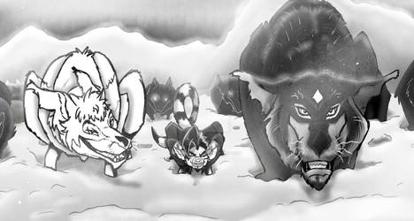 Book illustration Sample, Gage and his fellas