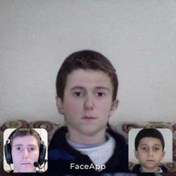 A boy with the face of a man