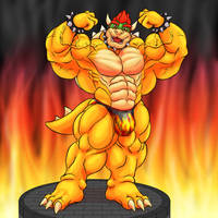 Anthro Muscle - Bowser Koopa, Powered up!