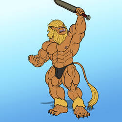 Anthro Muscle - Leomon