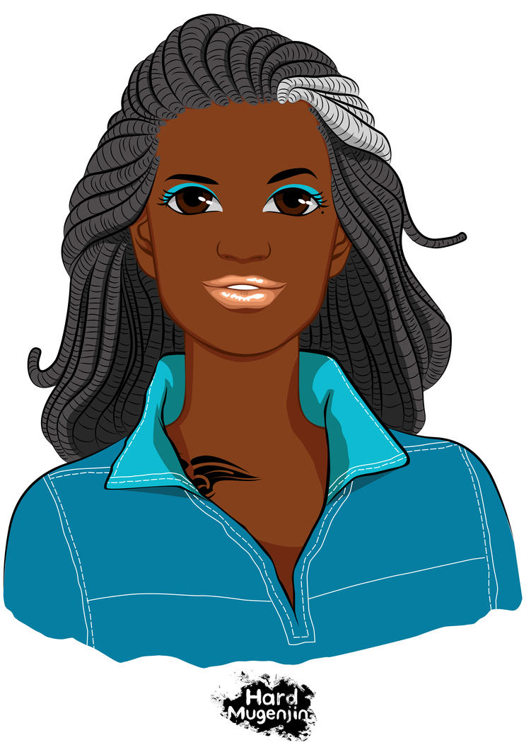 Black vector girl by HardMugenjin