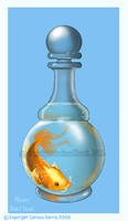 Koi in a decanter by tissa