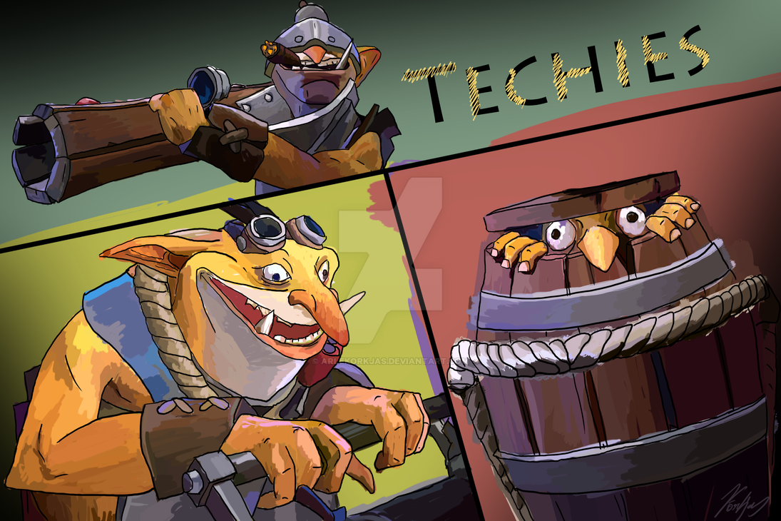How to get 100% first blood with techies!