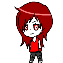 Red shimeji by HelloThere9999