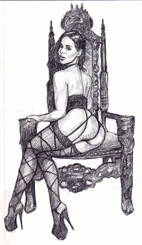 Weekly sketch: Kendra Lust by popeyewong