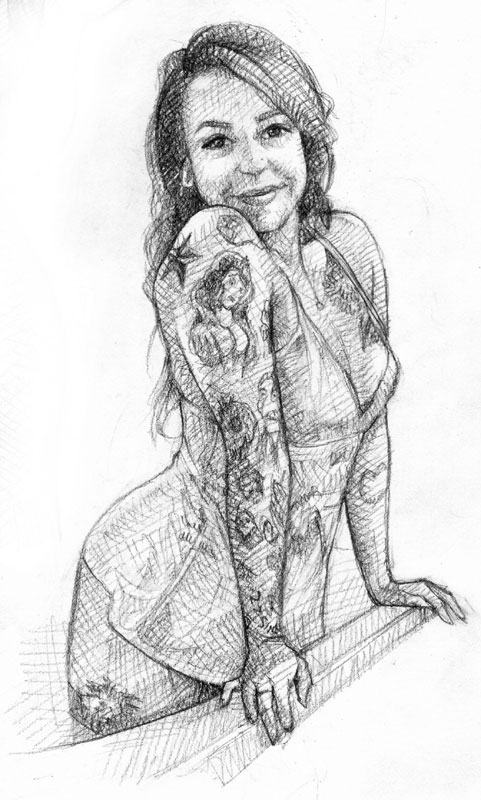 Weekly sketch: Rena Nelson by popeyewong