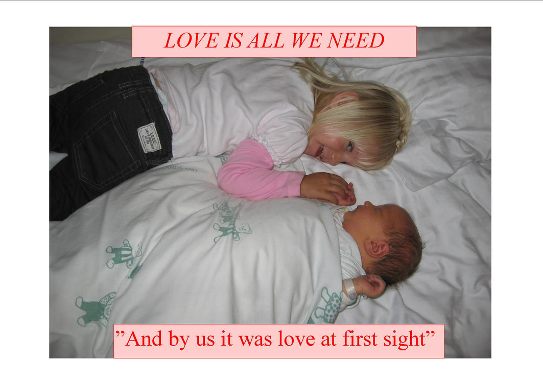 And by us it was love at first sight by Liam2010