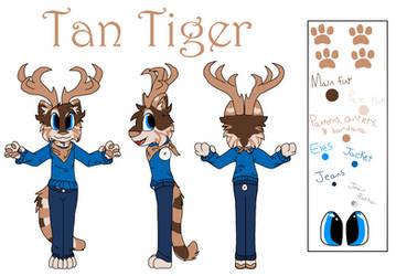 Tan Tiger - Fursona by The-Tan-Tiger