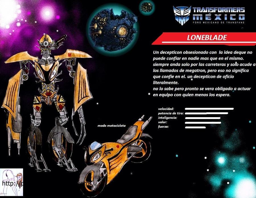 transformers: loneblade decepticon by puticron