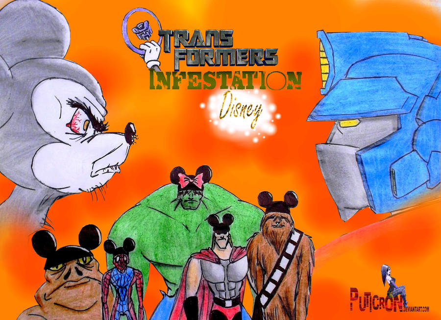 transformers: infestation disney by puticron