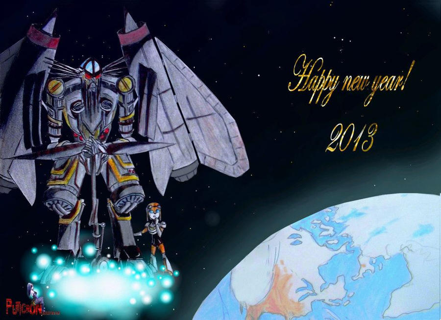 transformers: happy new year 2013 by puticron