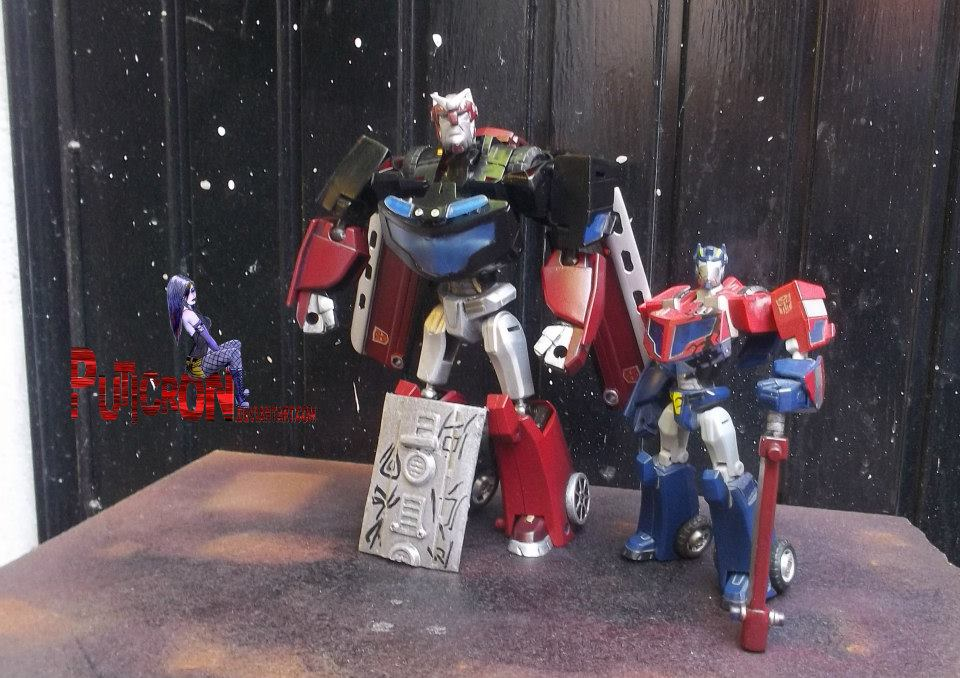 transformers customs baynimated centinel prime by puticron