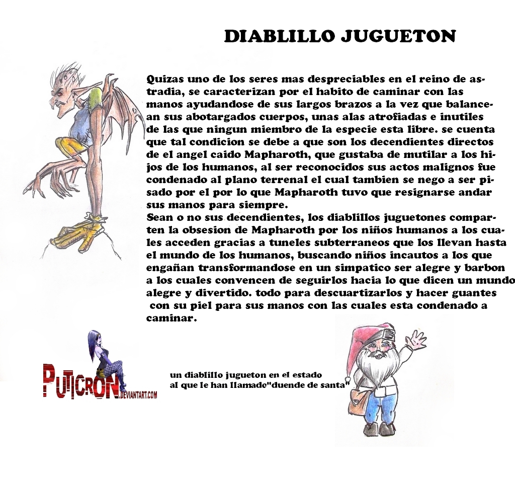 magical creatures : playful imp by puticron