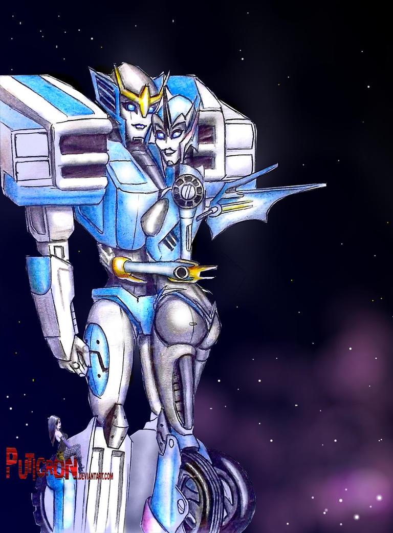transformers prime r.i.d. strongarm X arcee by puticron