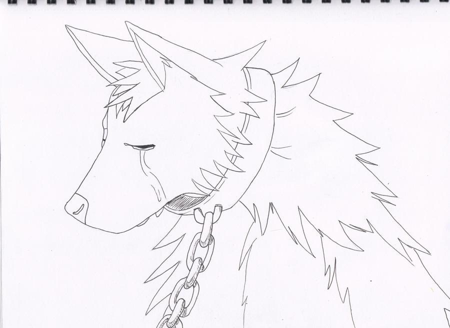 kaminari wolf - outline by KaminariOokami7 on DeviantArt