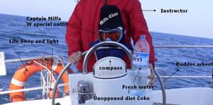 Miffa sailing an Oceannis