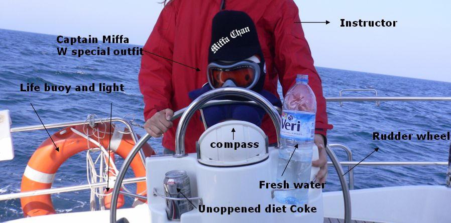 Miffa sailing an Oceannis by miffona