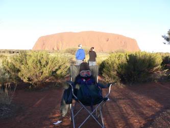 Miffa at Uluru