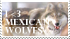 I Love Mexican Wolves Stamp by Faol-Allaidh