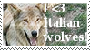 I Love Italian Wolves Stamp by Faol-Allaidh