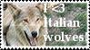 I Love Italian Wolves Stamp by Faol-Allaidh