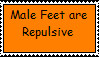 Anti-Male Feet Stamp by bubbles46853