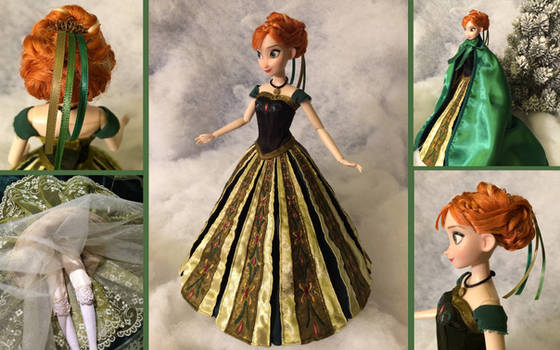 Custom Frozen Anna Coronation Doll
