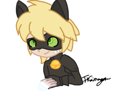 Chat Noir grin challenge entry by Ponyfab101