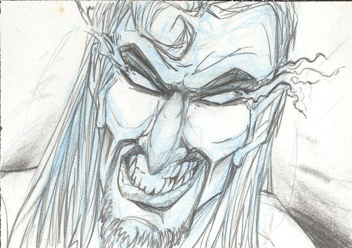 ' His sudden smile was cruel....' Ishamael (CU) by Primus-Ingeniator