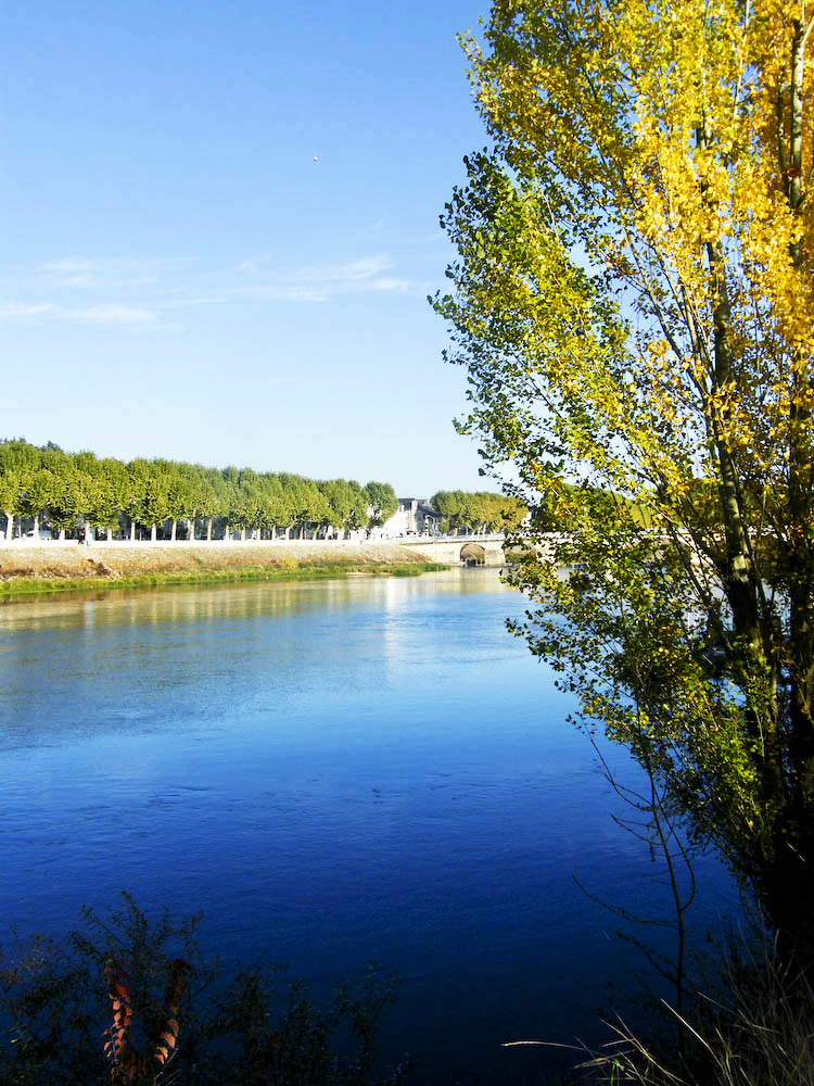 Chinon riverbank by fredjblack