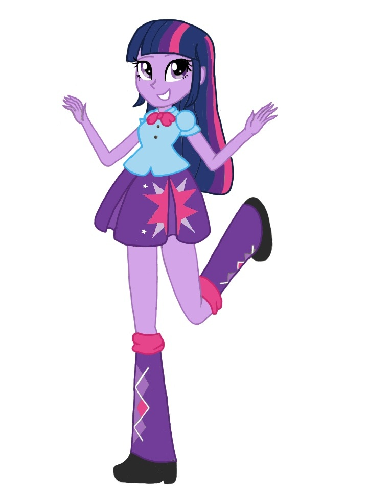 Equestria Girls Twilight Sparkle By Colorpalette Art On
