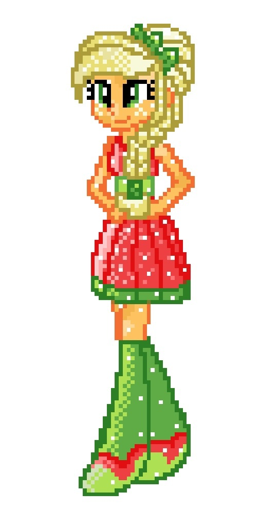 8-bit EG Crystal Applejack by Colorpaletpony