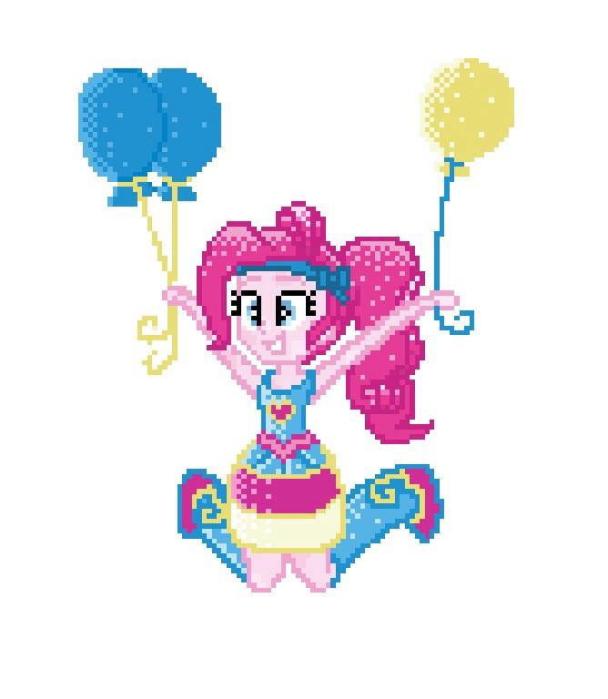 8-bit EG Crystal Pinkie Pie by Colorpaletpony