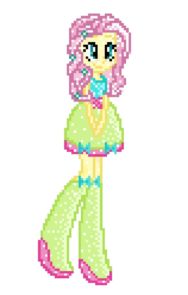 8-bit EG Crystal Fluttershy by Colorpaletpony