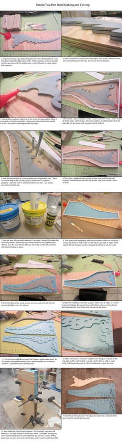 Simple 2 Part Mold Making and Casting
