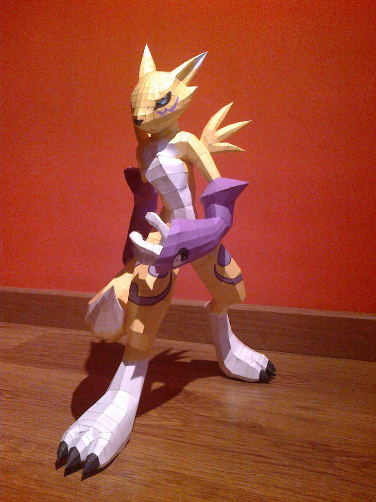 Renamon Papercraft 13-12-11 by kitsune34