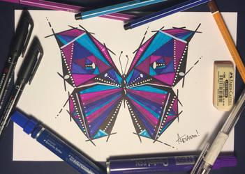 Geometric Butterfly by Artastic90