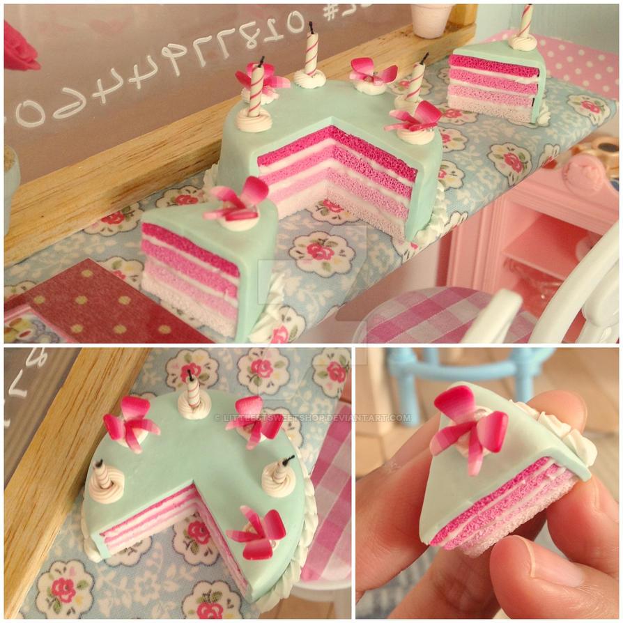 Spring birthday cake by LittlestSweetShop
