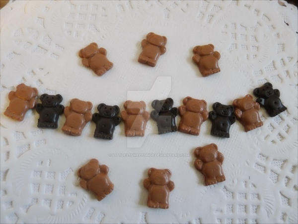 Chocolate bears in 1/6 by LittlestSweetShop