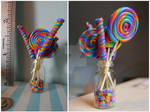 1/12 scale rainbow lollipops and sweets