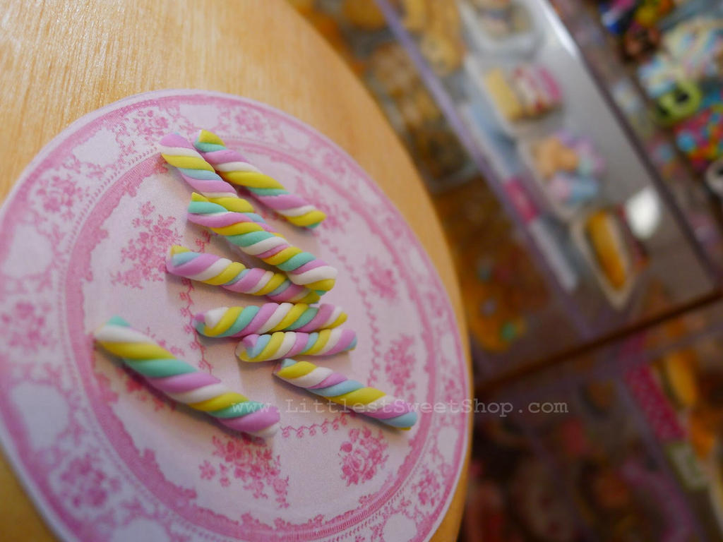 Miniature marshmallow flumps by LittlestSweetShop