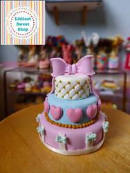 Angelic pretty 3 tier cake miniature by LittlestSweetShop