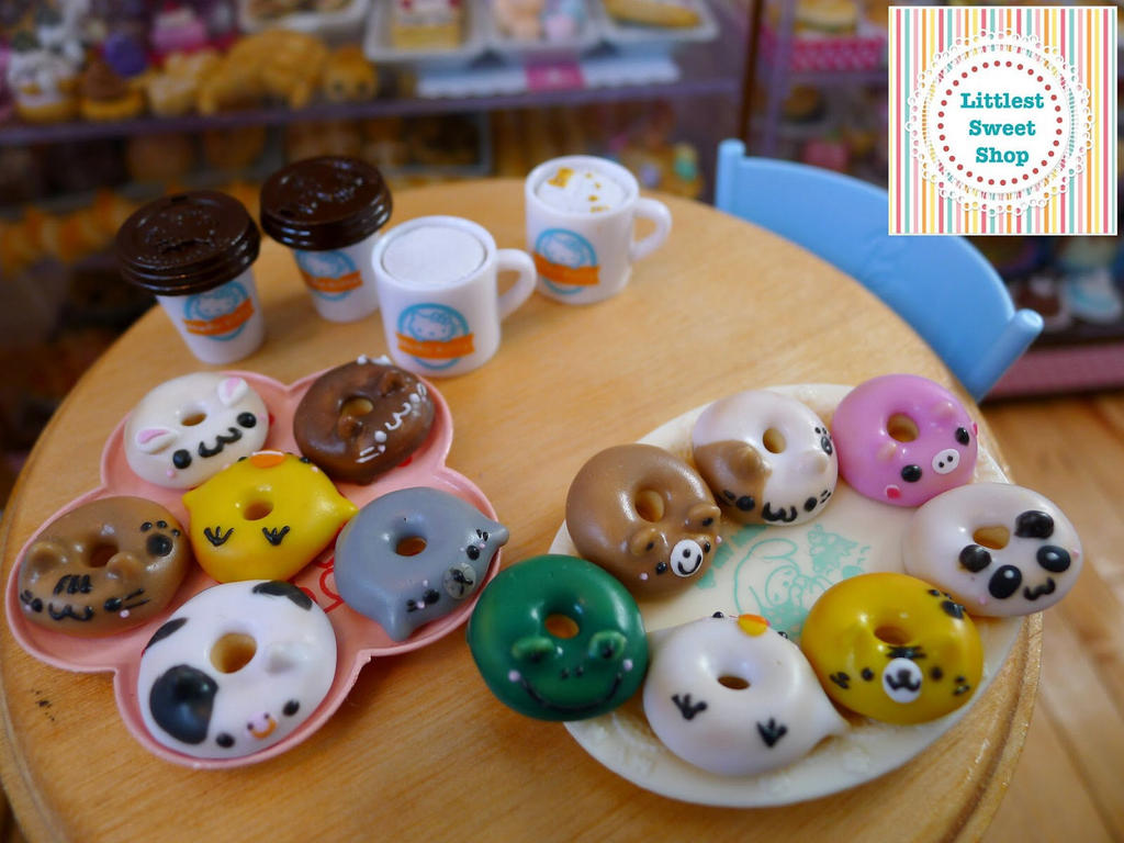 Miniature Doubutsu Doonatsu aka Animal doughnuts by LittlestSweetShop