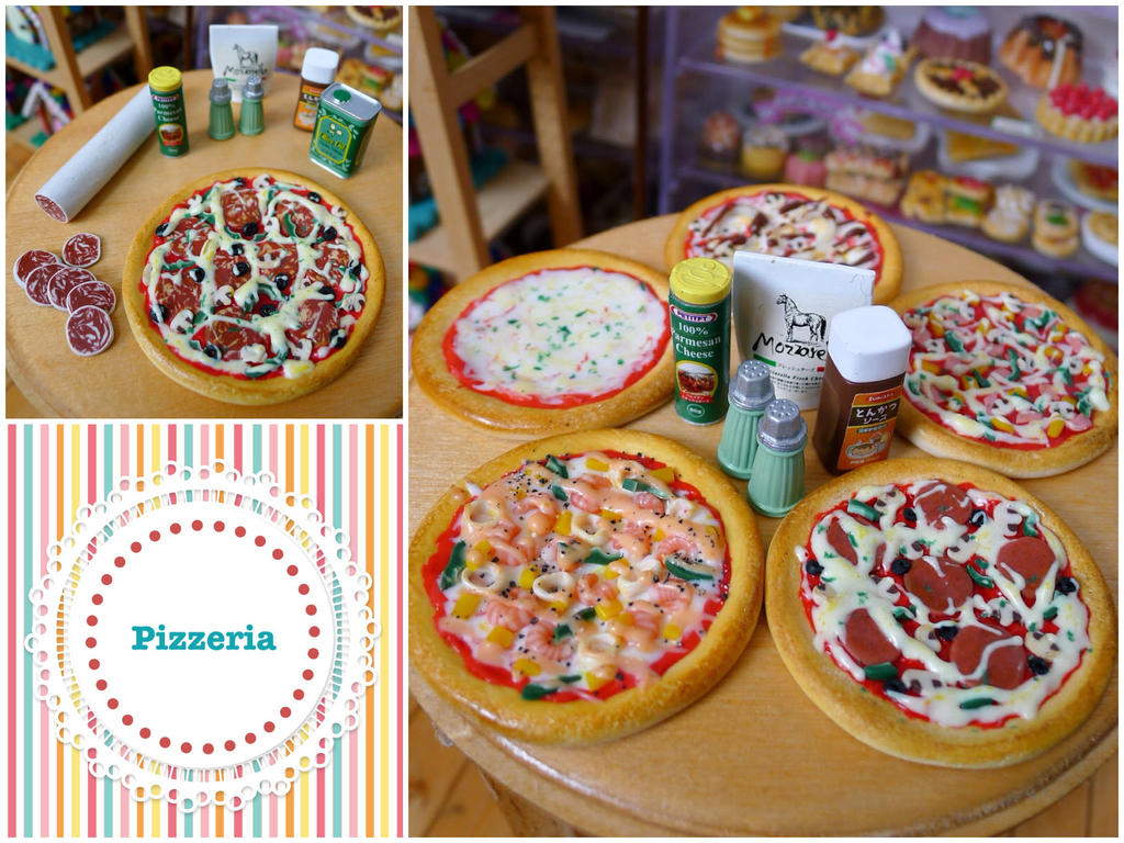 Miniature pizzas! by LittlestSweetShop