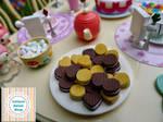 Cream cookies in  miniature