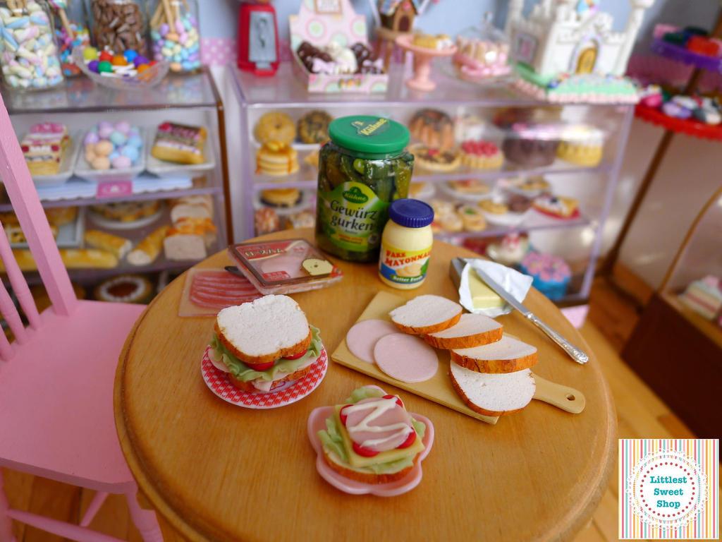 Ham Sandwiches miniature by LittlestSweetShop