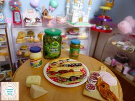Miniature subway deli sandwiches by LittlestSweetShop