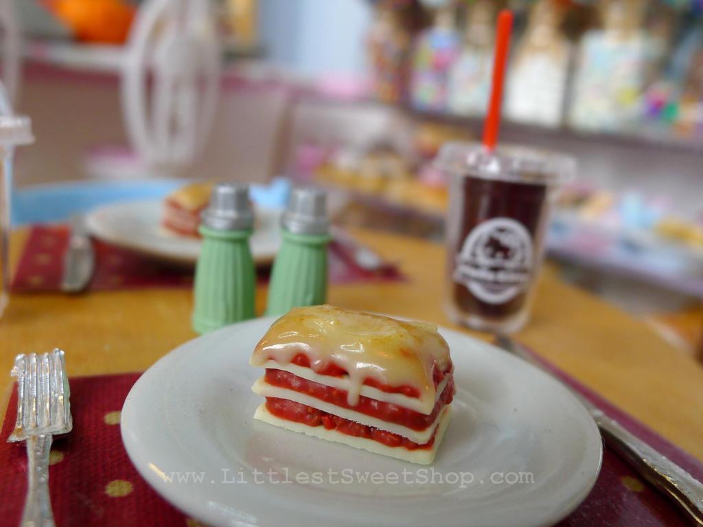 Miniature lasagna by LittlestSweetShop