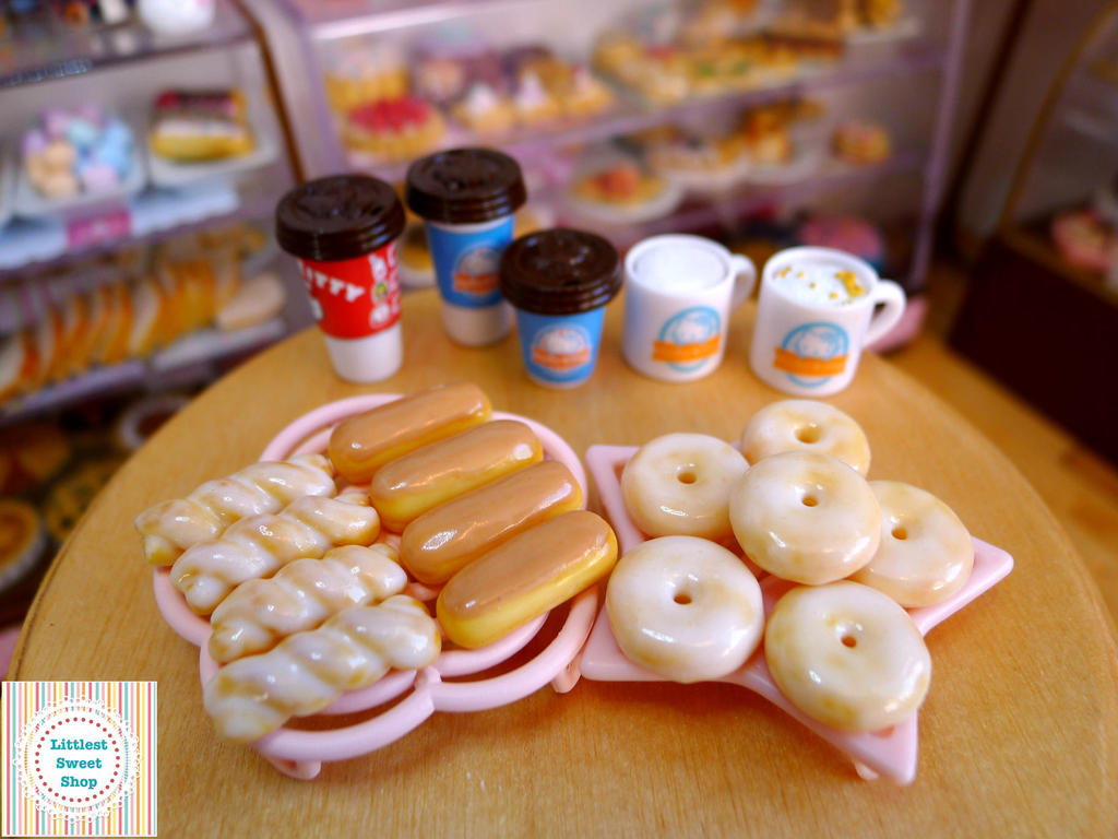 3 new doughnut varities (miniatures) by LittlestSweetShop